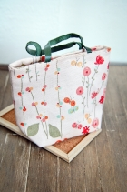 Oversized Flowered Tote Bag