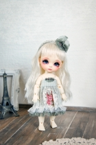 Lati Yellow Chibi Momoiro Dress Matcha