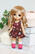 Lati Yellow Choco Cupcake Dress