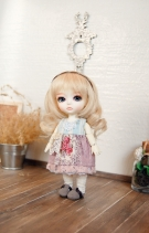 Lati Yellow Lacey Momoiro Grape Dress