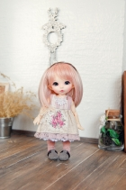 Lati Yellow Lacey Momoiro Rosette Dress