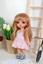 Lati Yellow Summery Praire Pink Dress