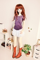 SD/SD13 & Unoa Zero Ruffled T-Shirt Purple Dye