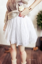 Nena02 White Tulle Skirt
