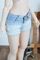 Nena02 Faded Denim Shorts