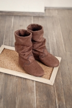 Nena02 Wrinkle Brown Boots