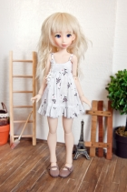 Nena02 White Daisy Dress