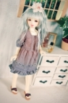Chibi Unoa Vic Dress Indigo Dye