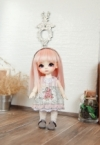 Lati Yellow Lacey Momoiro Frog Dress