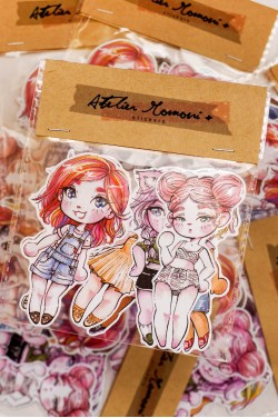 Stickers Chibi Pitusas Pack